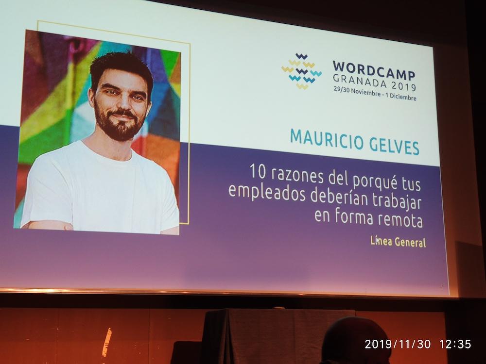 WCGranada 2019 Mauricio Gelvés Trabajar en remoto 00