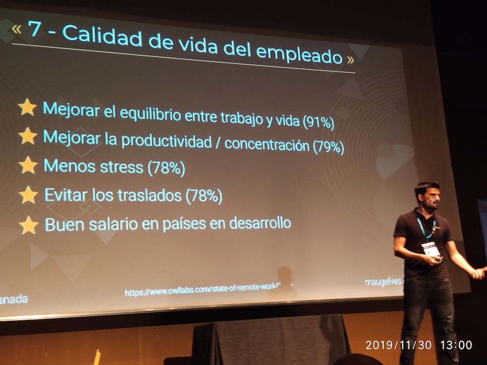 WCGranada 2019 Mauricio Gelvés Trabajar en remoto 01