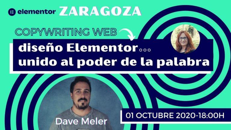 Meetup Diseño y copywriting web en Elementor Zaragoza