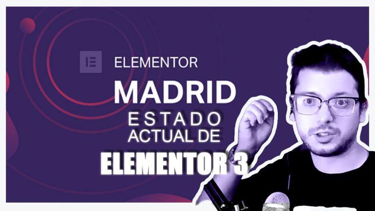 Estado de Elementor 3 Meetup