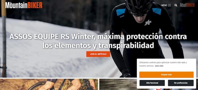 Mountainbiker.es, web con Elementor comentada por Santi Becerra
